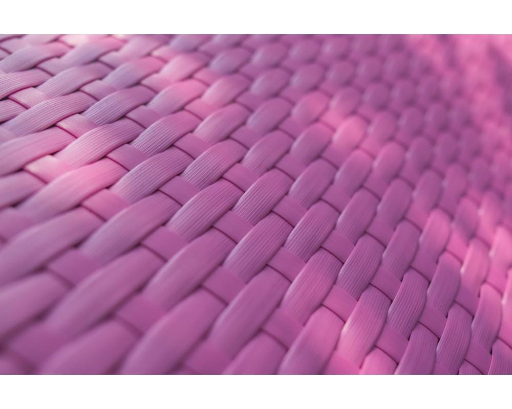 Шезлонг из ротанга Волна (синий и розовый)