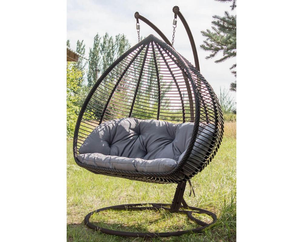 Подвесное кресло кокон Дабл Люкс (Lux)